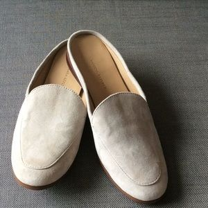Banana Republic backless suede loafers.